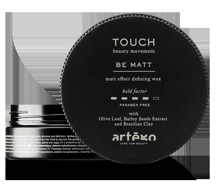 Středně tužící vosk na vlasy s matným efektem  BE MATT artego TOUCH  100ML