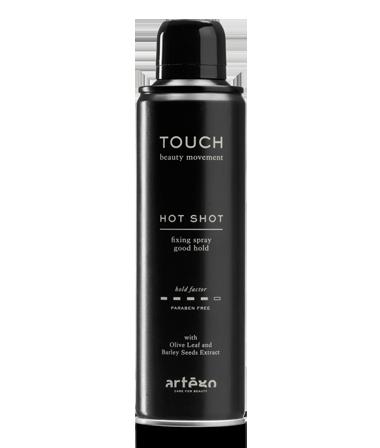 Středně – silně tužící lak na vlasy HOT SHOT artego TOUCH  250ML