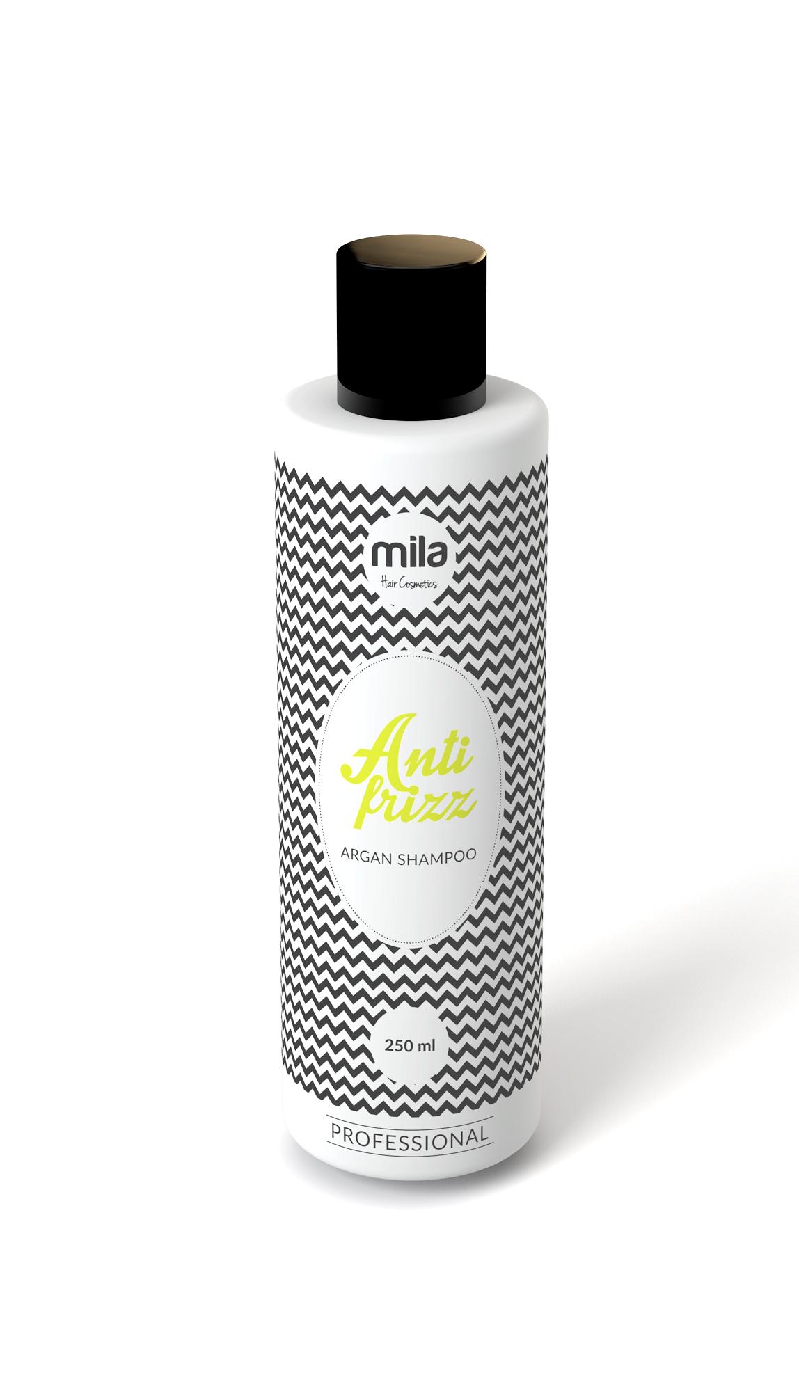 Arganový šampon MILA proti krepatění vlasů 250ml