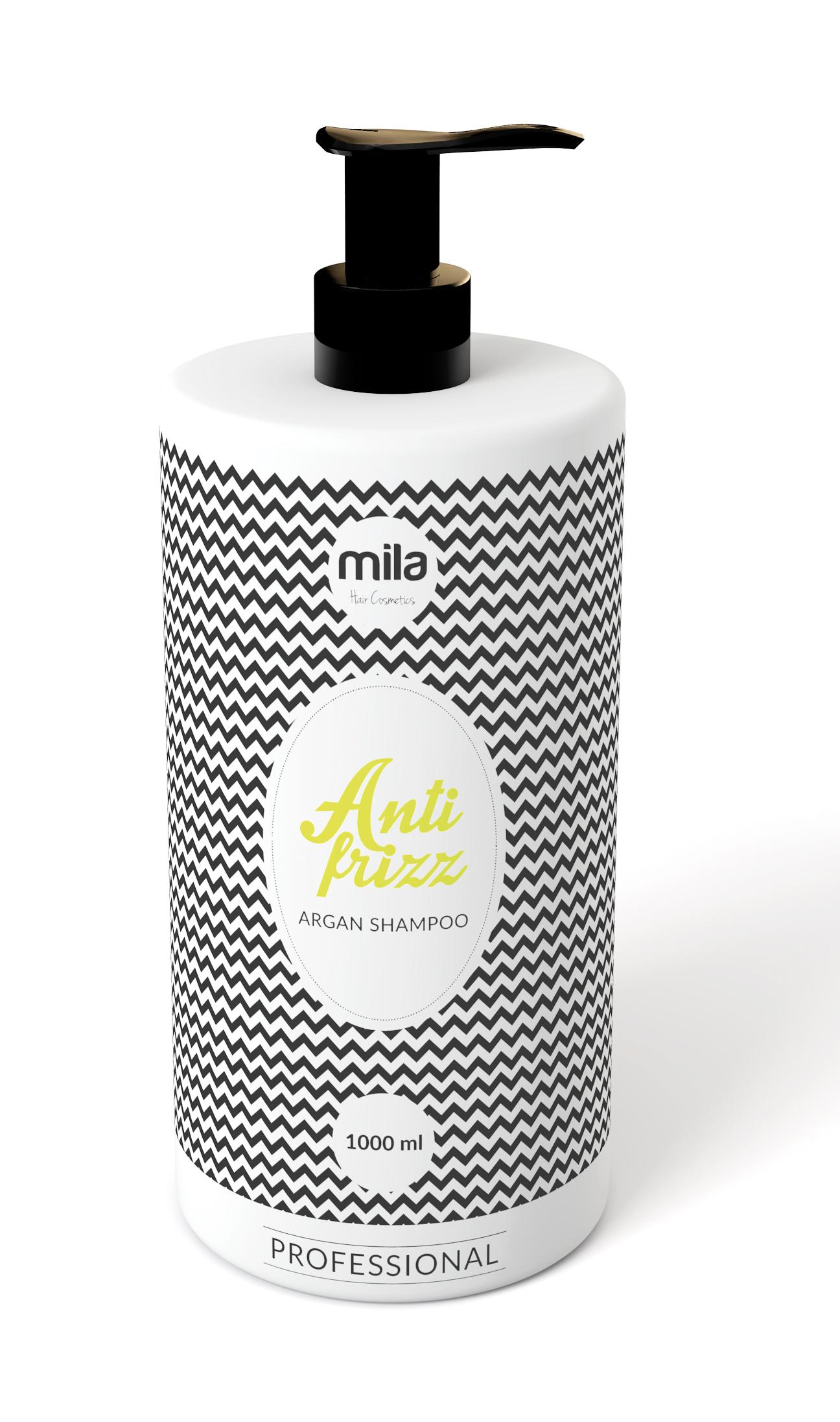 Arganový šampon MILA  proti krepatění vlasů 1000ml
