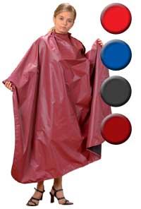 Kadeřnická pláštěnka Fox Upper Line2 černo – červená, zapínání na magnet