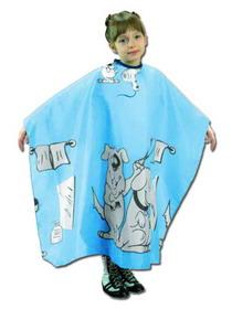 Dětská kadeřnická pláštěnka Fox Basic Line Modrá